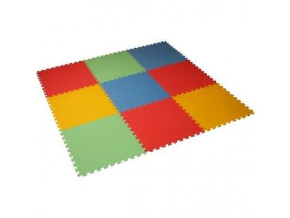 MALÝ GÉNIUS Penový koberec 9 - XL - hrubý / Mix farieb