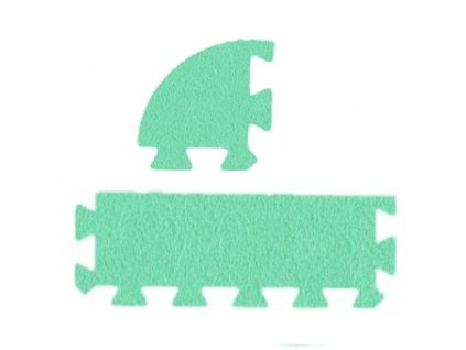 MALÝ GÉNIUS Penový koberec 24 - MAXI - hrubý / Súprava zakončovacích dielov - Jednofarebná - zelená