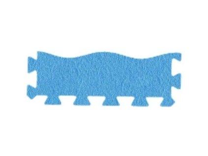 MALÝ GÉNIUS Penový koberec 24 - MAXI - VLNA - hrubý / Súprava zakončovacích dielov - Jednofarebná - modrá