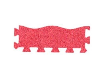 MALÝ GÉNIUS Penový koberec 24 - MAXI - VLNA - hrubý / Súprava zakončovacích dielov - Jednofarebná - červená