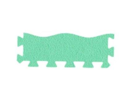 MALÝ GÉNIUS Penový koberec 24 - MAXI - VLNA - hrubý / Súprava zakončovacích dielov - Jednofarebná - zelená
