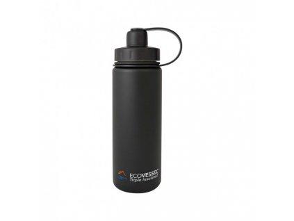 Termo fľaša Eco VESSEL 600 ml so závitom - čierna