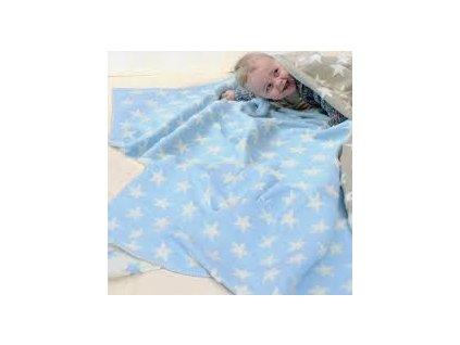 DaviDFussenegger Deka Finn 130x130 cm hviezdy modrá