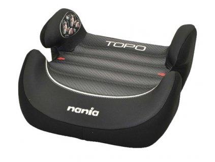 NANIA Podsedák Topo Comfort - Graphic Black First, 15-36 kg