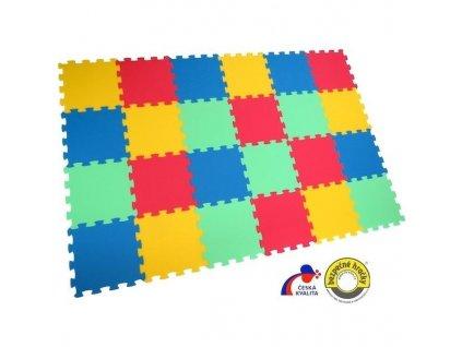 MALÝ GÉNIUS Penový koberec 24 - UNI-FORM - farebný