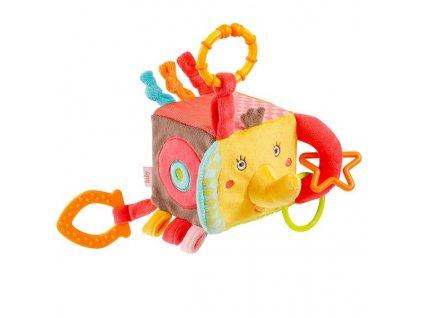 Fehn - Safari - plyšová aktivity kocka - slon