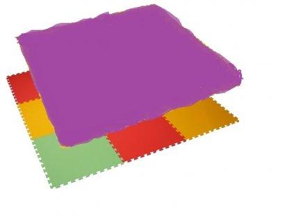 MALÝ GÉNIUS Penový koberec 12 - MAXI - hrubý / Jednofarebný - fialový