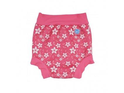 Splash About Plavky HAPPY NAPPY - ružové kvietky