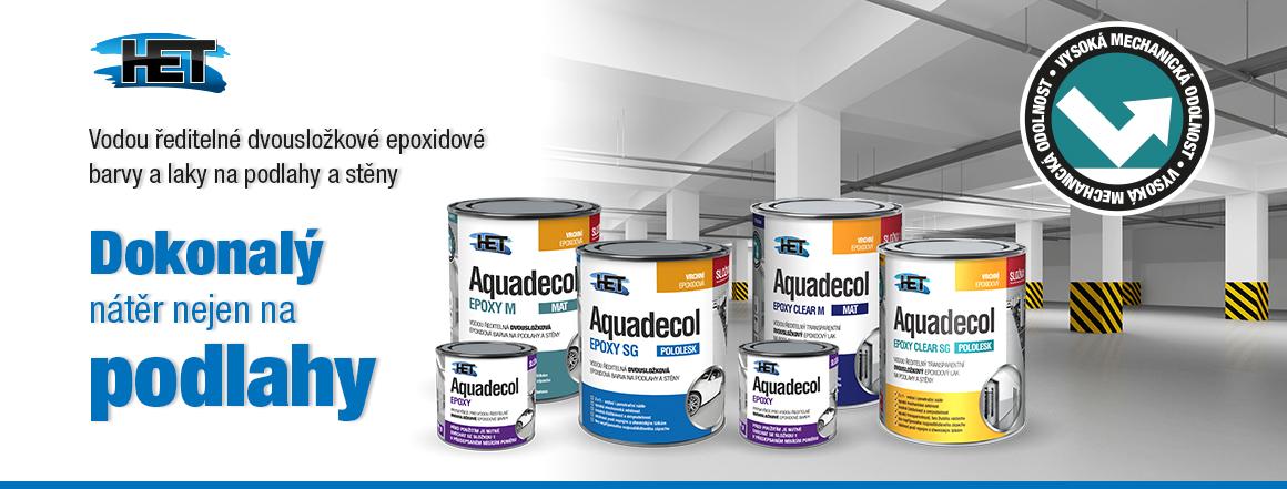 Epoxidové barvy a laky HET Aquadecol Epoxy