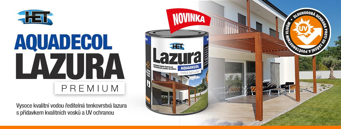 Vodou ředitelná lazura Aquadecol Lazura Premium