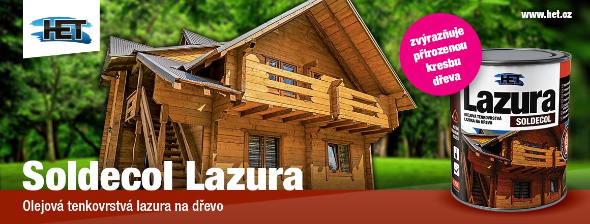 Soldecol Lazura - olejová lazura na dřevo