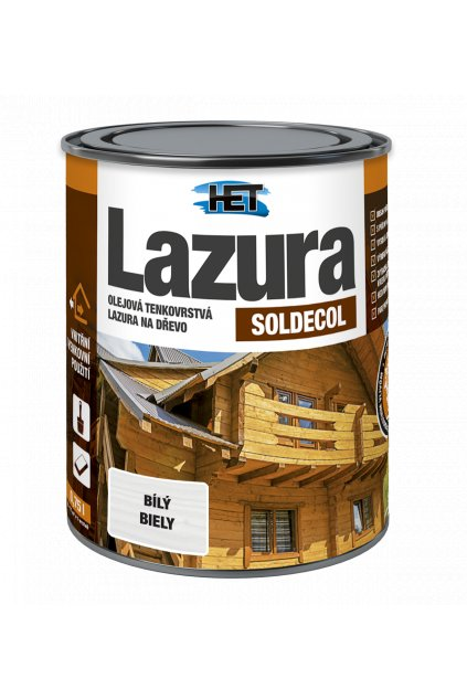 Soldecol Lazura 0,75l bily