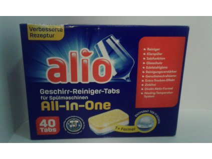 ALIO All-In-One tablety do myčky, 40 tablet