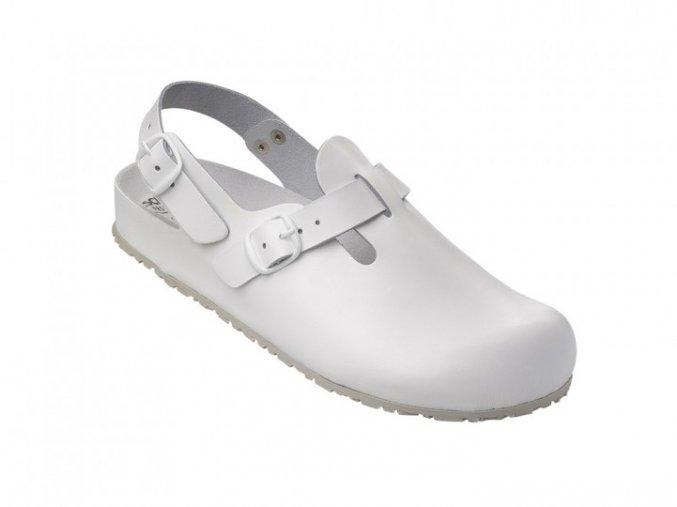 1.1412.01.14- protiskluzový pracovní sandál, sandál v esd provedení,.Korkový, anatomicky tvarovaný fussbett