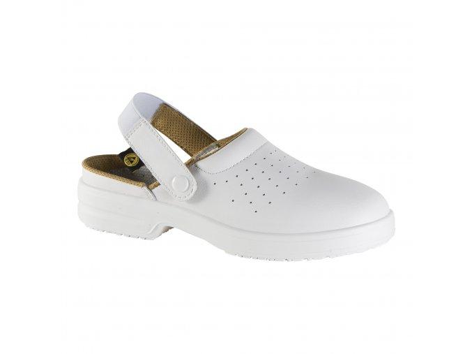 E111:bezpečnostní sandál,ESD provedení,do farmacie,zdravotnictví,elektrotechniky.Sandál s ocelovou špicí