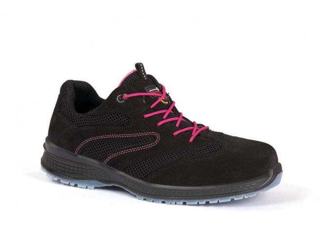 DANCES1P: dámská bezpečnostní obuv. Bota s plastovou špicí,antistatická ESD obuv,výborně protiskluzová