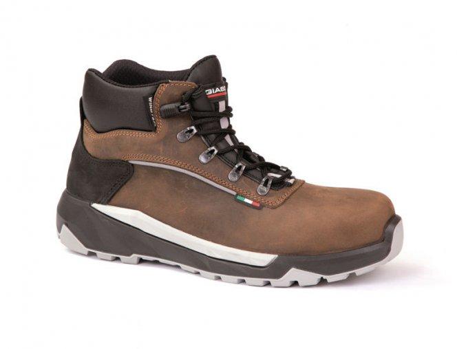 """MAKALUS3CIWR:kotníková pracovní bota s plastovou špicí,bez kovu.Podešev""""3CROSS"""" vhodná do náročného terénu,i jako zimní pracovní bota s podšívkou Windtex s membránou"""