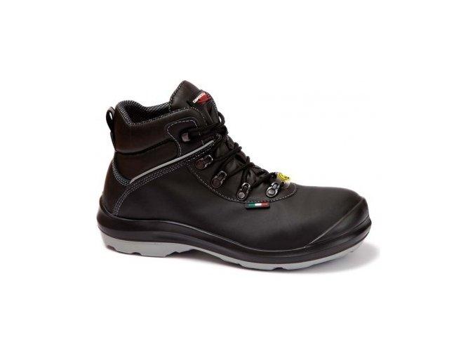 Giasco Canberra S3 kotníková bezpečnostní obuv s nekovovou plastovou špičkou, extra široká obuv i pro diabetiky, ESD,pružná podešev,lehká pohodlná pracovní obuv