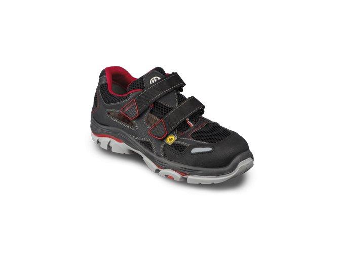 Stabilus 6134 A pánský/dámský sandál ocelová špička ESD,i nadměrné velikosti do 52,výborné tlumení rázů ,skldy,montáže,lelektrotechnický průmysl,logistika