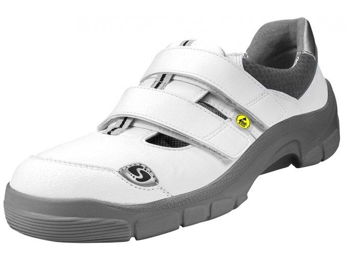 Schuerr Hof S1 bílý zdravotní sandál Alu-špička gel v patě tlumí rázy při chůzi, ,elektrotechnika,laboratoře,zdravotnictví