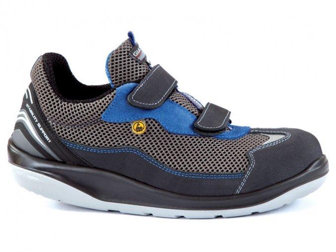 HAWAII S1P -bezpečnostní polobotka s plasotovou špicí,antistatická esd obuv pro elektrotechniku,sklady apod.podešev Ergo-safe odlehčuje páteři a kloubům