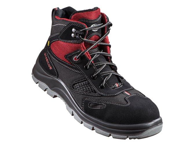 5116 A SUPERFLEX -kotníková bota s kompozitní špičkou,kotníková protiskluzná bota,pracovní esd obuv,ohebná podešev,bota pro práci vkleče,do lehkého průmyslu,pracovní bota do skladu,bota bez kovu