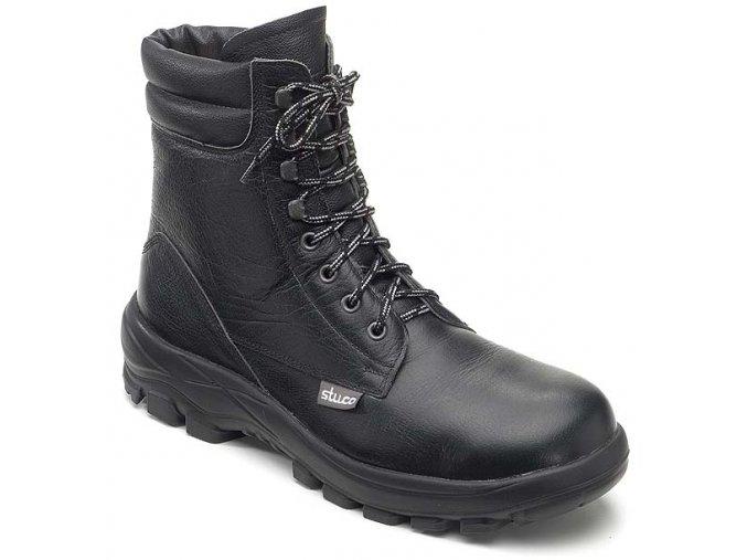 STUCO 34 242S2 SRC ESD zimní holeňová pánská/dámská obuv ocelová špička přírodní kožešina,i do výbušného prostředí