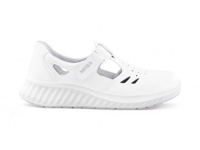 ARMEN O1bílý zdravotní sandál pro zdravotnický personál,lehká pracovní obuv