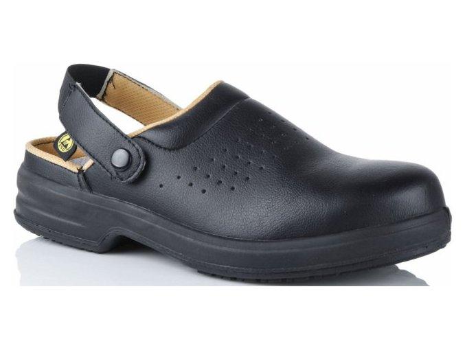 E113:antistatický ESD sandál s ocelovou špičkou,pro elektrotech.průmysl