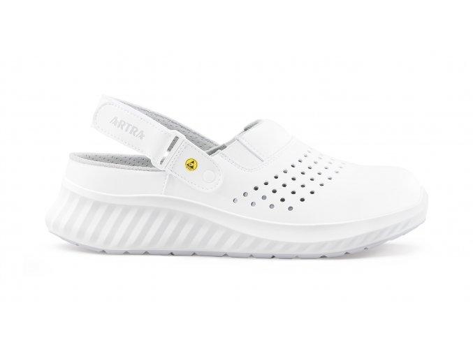 ARNO OB ESD:  pracovní sandál bez vyztužené špičky,protiskluzný ESD sandál pro elektrotechniku,elektroniku atd.