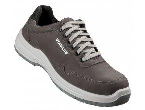 Jordan anthracit:bezpečnostní polobotka s nekovovou špicí,protiskluzová pracovní obuv bez kovu/metall free