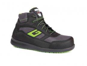 NEWYORKS1P :kotníková pracovní bota s plastovou špicí. Protiskluzová obuv,plastová špice, gel v patě pro měkký došlap