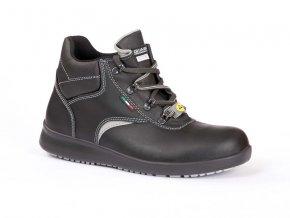 LUTONO3:profesní kotníková obuv bez vyztužené špice.ESD antistatická kotníková bota.reflexní prvky, protiskluzová pracovní bota
