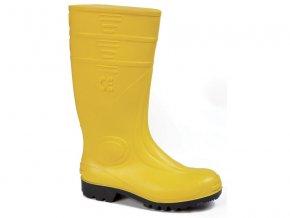 Giasco MARTE GI S5 pánská bezpečnostní žlutá holínka ocelová špička a planžeta proti propíchnutí ,PVC