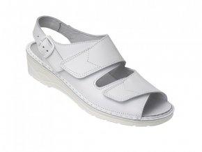 Schuerr 5,1511.01.00 OB ESD dámský zdravotní bílý sandál, korková vložka,antistatická ,měkká pružná pracovní obuv