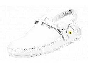 Schuerr München OB AE FO SRC ESD bílý zdravotní sandál,antistatická obuv gel v patě tlumí nárazy v patě,farmacie,zdravotnictví,elektronika,kuchyně