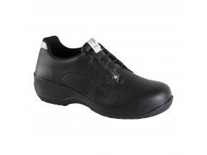 R283 -dámská bezpečnostní polobotka s ocelovou špičkou,protiskluzná a antistatická pracovní bota, pro lehký průmysl,sklady.
