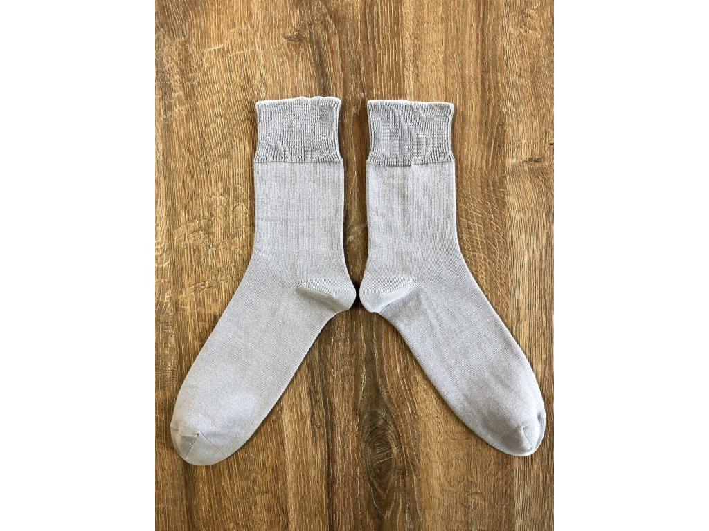 Ponožky zdravotní antibakterialní světle šedá