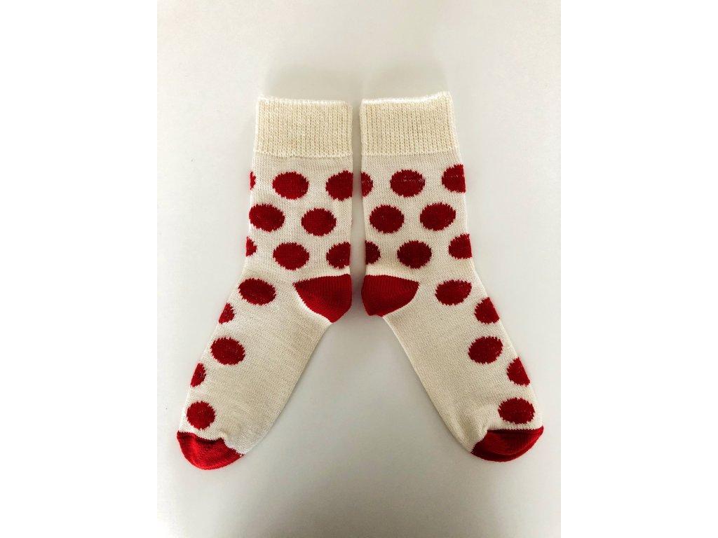 Ponožky vlněné puntík