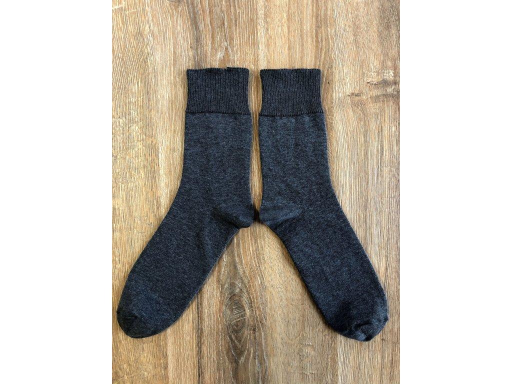 Ponožky zdravotní antibakterialní tmavě šedá