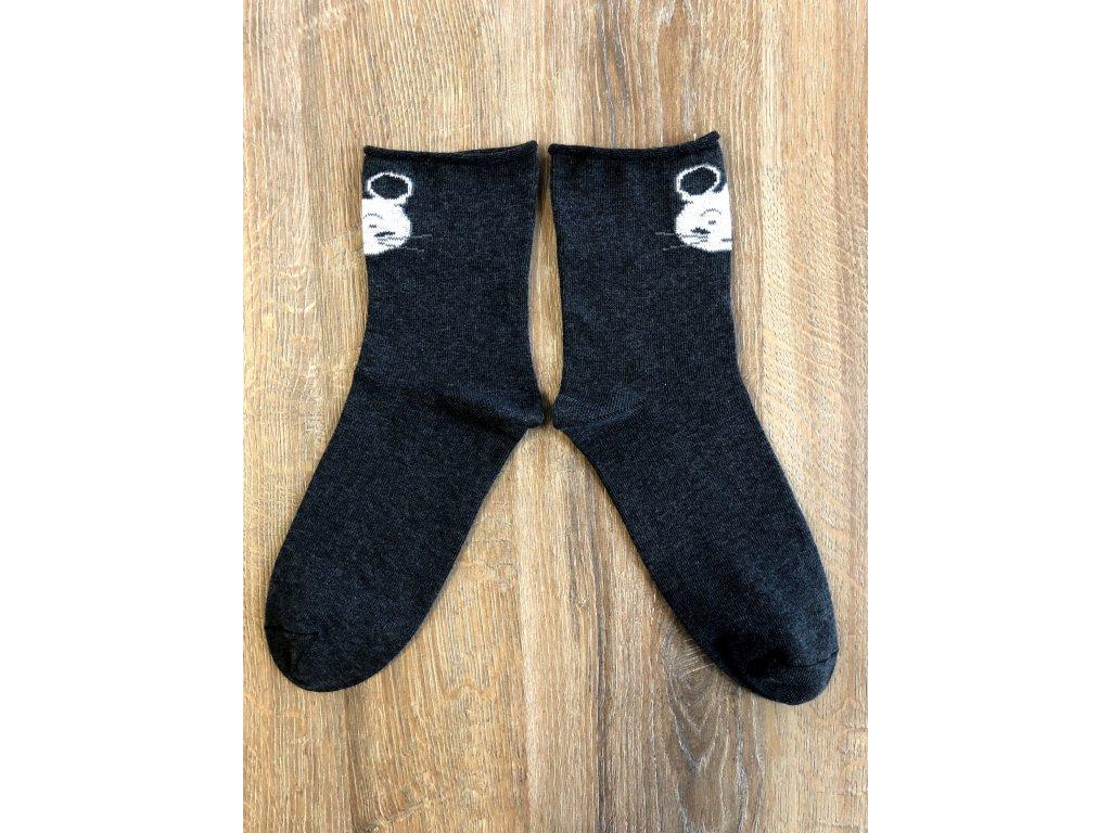 Ponožky Myška antibakteriální - volný lem