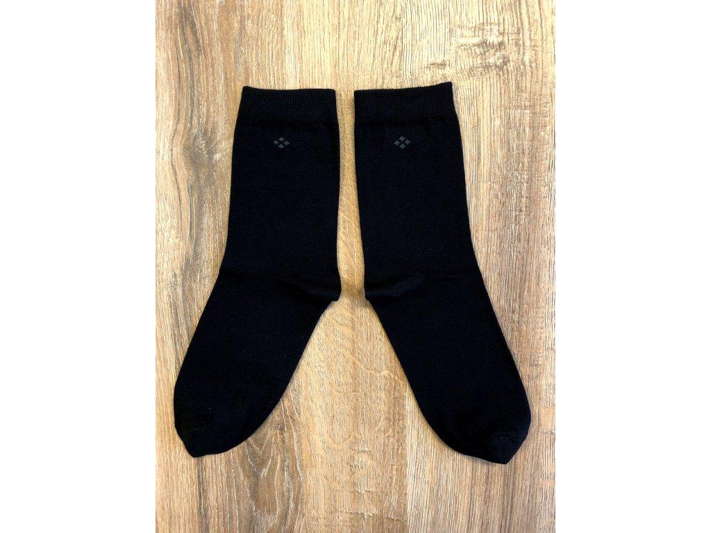 Ponožky oblekové antibakteriální - černá