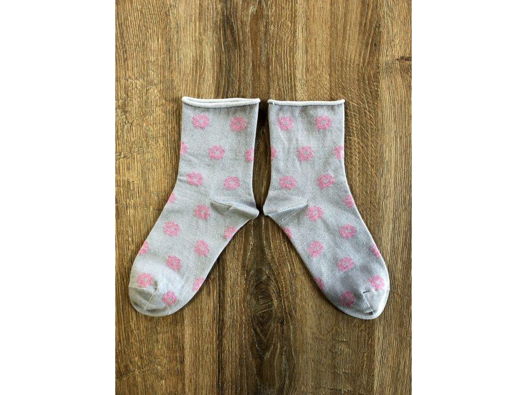 Ponožky Květ antibakteriální - volný lem