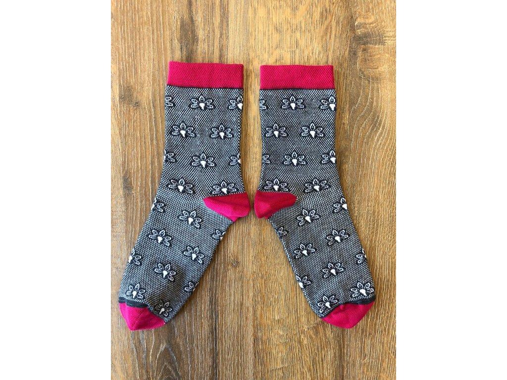 Ponožky květ barevná