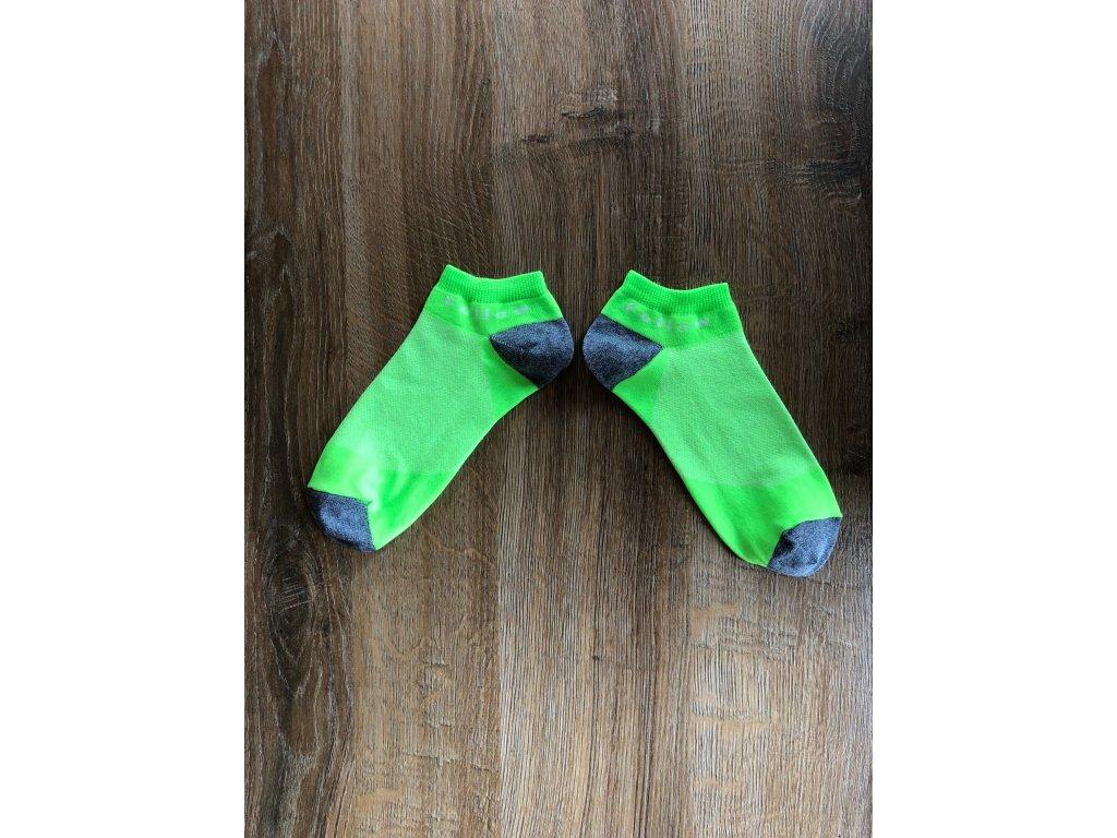 Ponožky kotníkové funkční Flow zelená