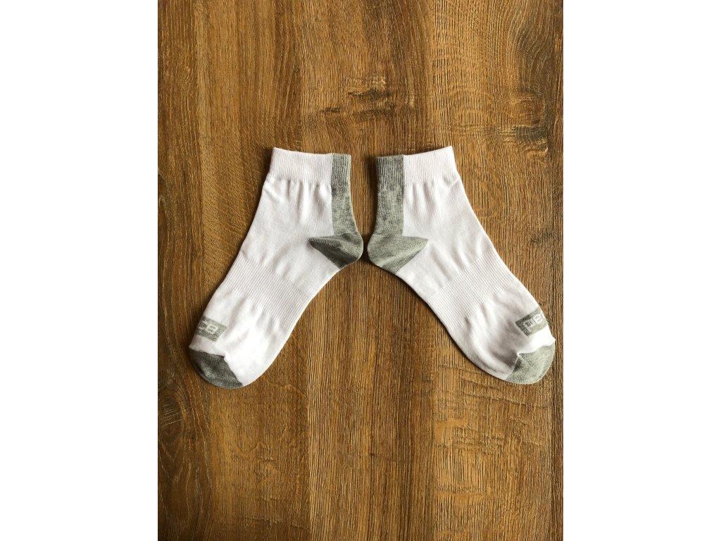 Ponožky kotníkové PEACE bílo-šedé