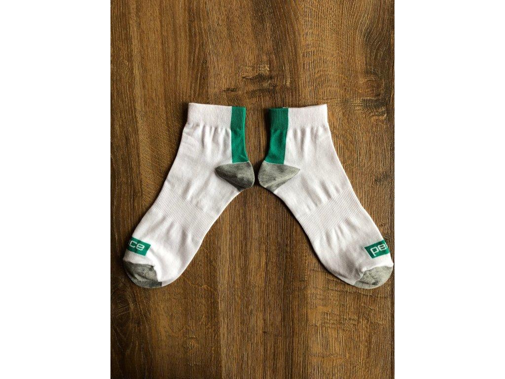 Ponožky kotníkové PEACE bílo-zelené