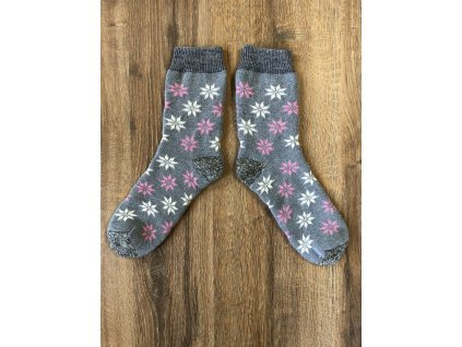 Ponožky vlněné vločka norská