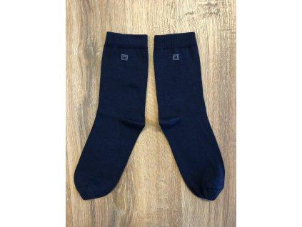 Ponožky oblekové antibakteriální - tmavě modrá