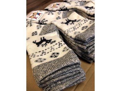 Ponožky vlněné s jelenem